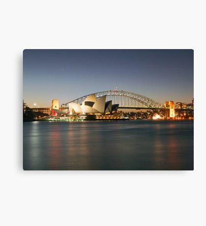 Sydney Icons - Opera House and Harbour Bridge Canvas Print