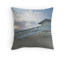 Malibu Beach Sunset Throw Pillow