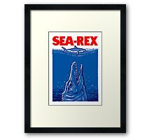 Mosasaurus Jurassic World Sea Rex Framed Print