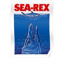 Mosasaurus Jurassic World Sea Rex Poster