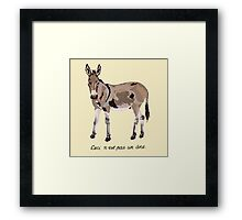 This is not a donkey Framed Print