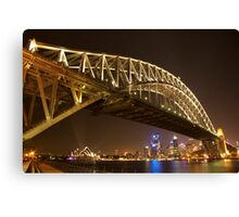 Harbour Bridge - Night Canvas Print