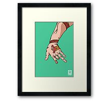 'The hand with the dragon tattoo' Framed Print