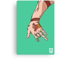 'The hand with the dragon tattoo' Canvas Print