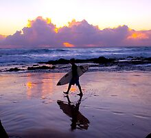 Dawn Surfer by John Karamanos