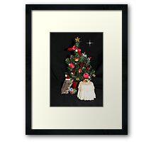 Skittles Decorating her Christmas Tree Framed Print