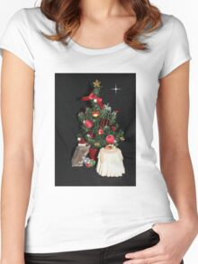 Skittles Decorating her Christmas Tree Women's Fitted Scoop T-Shirt