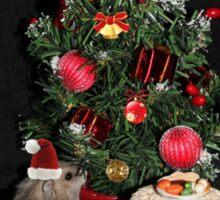 Skittles Decorating her Christmas Tree Sticker