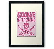 Goonie in Training - The Goonies Framed Print