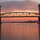 Cape Fear River Sunset by David Edwards