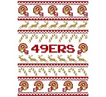 49ers Football Christmas Ugly Sweater T Shirt Photographic Print