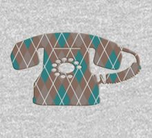 Argyle Vintage Rotary Telephone One Piece - Long Sleeve