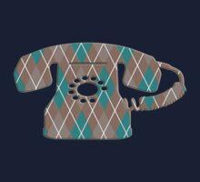 Argyle Vintage Rotary Telephone Kids Tee