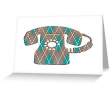 Argyle Vintage Rotary Telephone Greeting Card