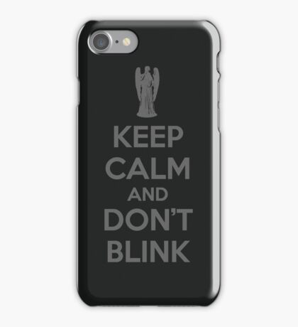Keep calm and don't blink V 2.0 iPhone Case/Skin