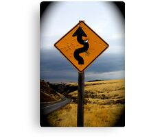 Curves ahead Canvas Print