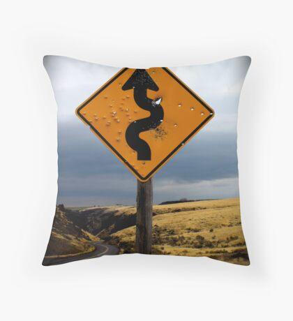 Curves ahead Throw Pillow