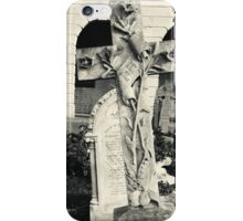 Decorated cross Brompton Cemetery iPhone Case/Skin