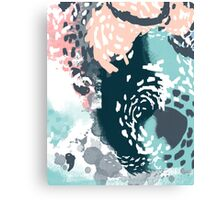 August - Abstract art phone case gifts ideas for feminine bold modern bright happy colors Canvas Print