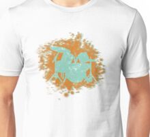 Drumset Splatter 3D look silhouette Unisex T-Shirt