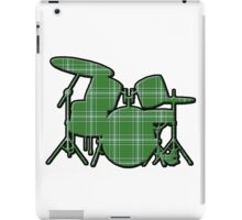 Plaid Drumset iPad Case/Skin