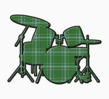 Plaid Drumset Kids Clothes