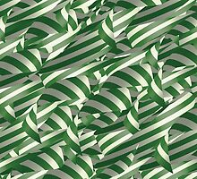 Green and White Decorative Ribbons by etienjones