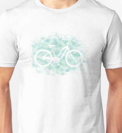 Beach Cruiser Bike Silhouette Unisex T-Shirt