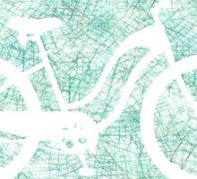 Beach Cruiser Bike Silhouette Sticker