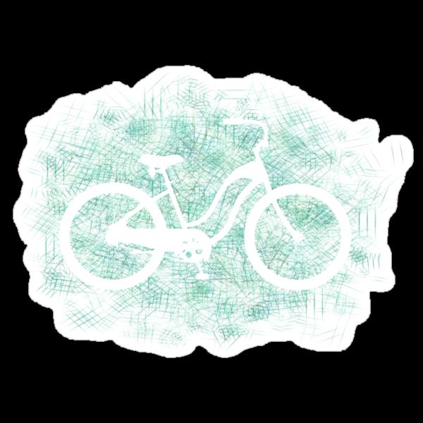 Beach Cruiser Bike Silhouette by surgedesigns