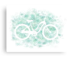 Beach Cruiser Bike Silhouette Canvas Print