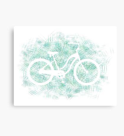 Beach Cruiser Bike Silhouette Canvas Print