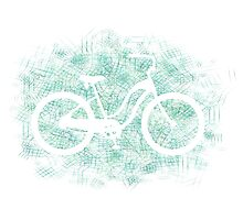 Beach Cruiser Bike Silhouette Photographic Print