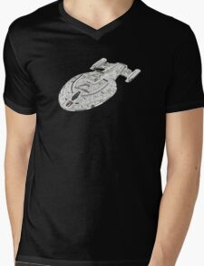 USS Star Trek Voyager Mens V-Neck T-Shirt