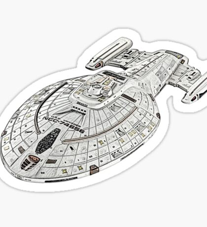 USS Star Trek Voyager Sticker