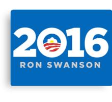 Ron Swanson 2016 sticker mug campaign poster Canvas Print