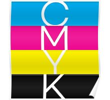 CMYK (geeky designer graphic) Poster
