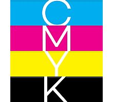 CMYK (geeky designer graphic) Photographic Print