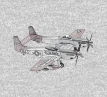 North American F-82 Twin Mustang Kids Clothes