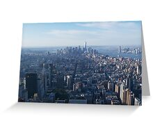 View from Empire State building New York  Greeting Card