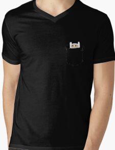 Pocket-Finn Mens V-Neck T-Shirt