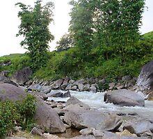 The Powerful River - Sa Pa, Vietnam. by Tiffany Lenoir