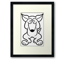 English Bull Terrier Hide  Framed Print