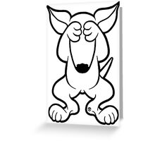 English Bull Terrier Hide  Greeting Card