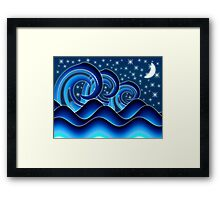 Rolling Waves (iphone/iPod/iPad case) Framed Print