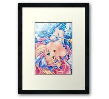 Yu-Gi-Oh! Dark Magician girl, kawaii Framed Print