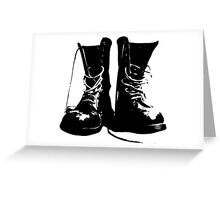 Punk Boots - Punk RockerShoes - Streetstyle Fashion Greeting Card