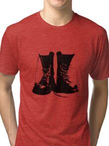 Punk Boots - Punk RockerShoes - Streetstyle Fashion Tri-blend T-Shirt