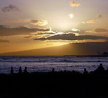 Waikiki Sunset by dcruzin