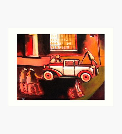 The car ( from my original acrylic painting) Art Print
